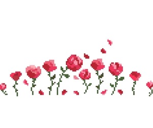 8 bit, flowers, and pixel image