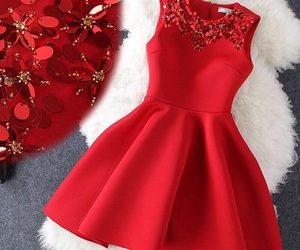 dress, red, and clothes image