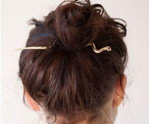 bun, hair, and snake image