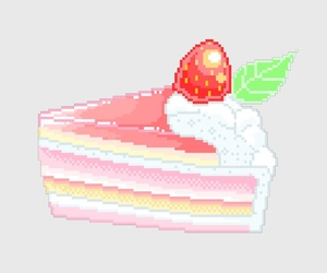 8-bit, cake, and dessert image