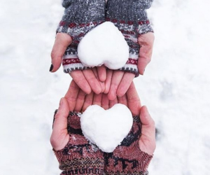 love and snow image