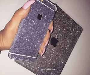 glitter, iphone, and ipad image