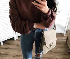 bag, jean, and fashion image