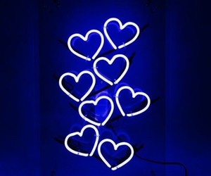 light, neon, and hearts image