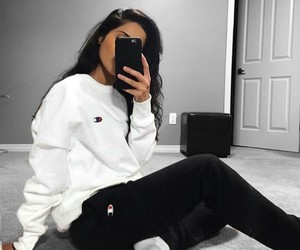 champion, outfit, and white image