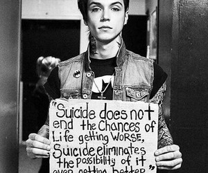 andy biersack, suicide, and black veil brides image