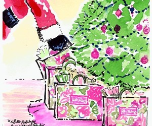 art, watercolor, and christmas image