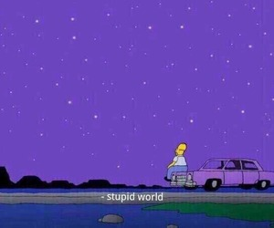 simpsons, purple, and quotes image