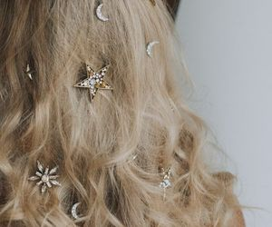 hair, stars, and blonde image