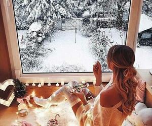 winter, girl, and christmas image