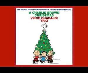 snow, charlie brown, and holiday image