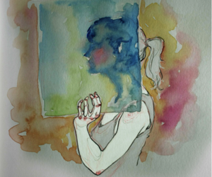 draw, illustration, and watercolor image