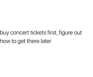 concert tickets and funny image