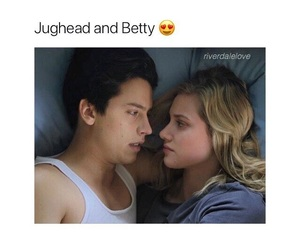 cole sprouse, betty cooper, and jughead jones image