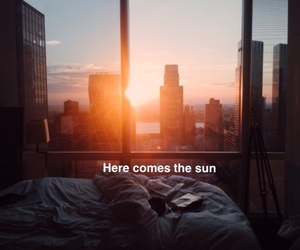 cover, here comes the sun, and Lyrics image