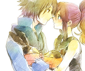 couple, pokemon black and white, and love image
