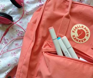 kanken, peach, and pink image