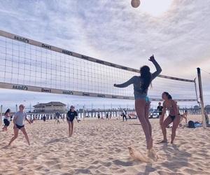 beach, beautiful, and fitness image