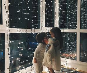 kids, light, and christmas image