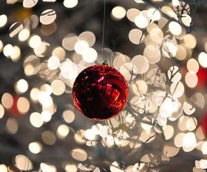 christmas, light, and red image