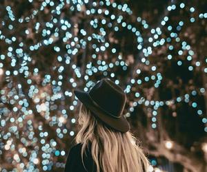 light, girl, and christmas image