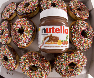 nutella, donuts, and food image
