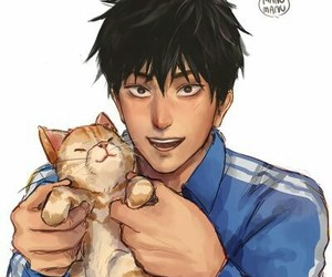 cat, hair, and saitama image