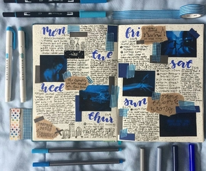 aesthetic, journal, and tombow image