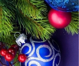 background, blue, and christmas tree image