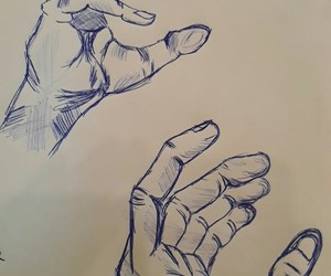 art, hand, and sketch image