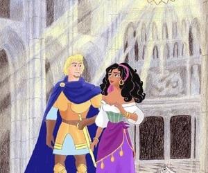 disney, phoebus, and esmeralda image