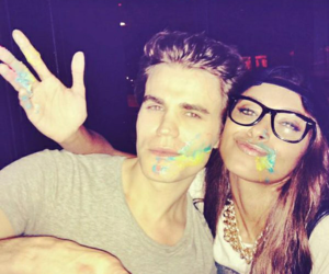 paul wesley, tvd, and kat graham image