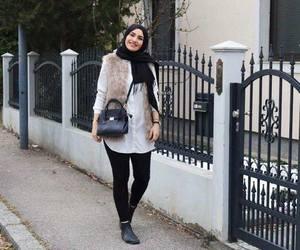 fur vest hijab image