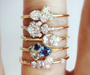 clutter, diamond, and gold image
