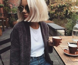blonde, bob, and fashion image