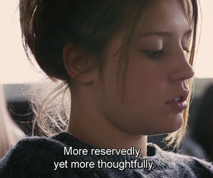 thoughtful, blue is the warmest color, and adele exarchopoulos image