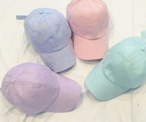 hats, pink, and purple image