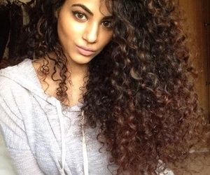 curls, hair, and curly hair image