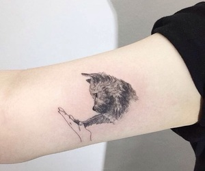 tattoo, dog, and animal image