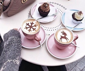 coffee, winter, and cupcake image