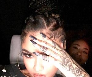 girl, Tattoos, and henna image
