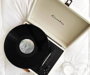 music, record player, and style image