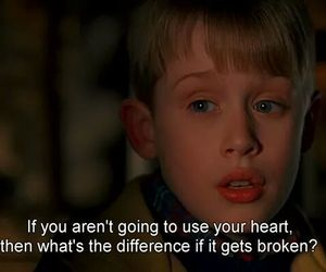 heart, quotes, and home alone image