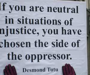 quotes, injustice, and desmond tutu image