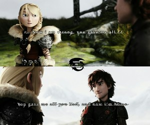 httyd, astrid hofferson, and hiccup haddock image
