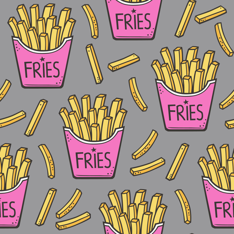 background, fast food, and French Fries image
