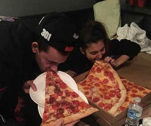 pizza, Relationship, and couple image