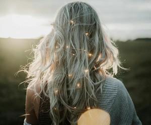 beautiful, girl, and light image