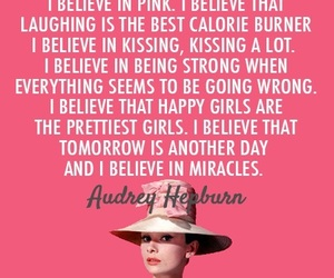 quotes, pink, and audrey hepburn image