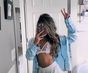 aesthetic, bralette, and fashion image